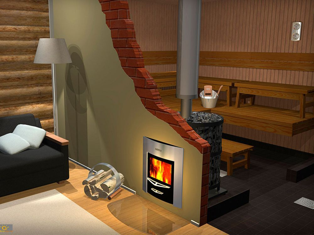 Fantastyczny Harvia Legend 240 DUO (kominek + sauna) FZ89